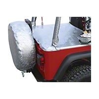 VDP 30 In. - 33 In. Spare Tire Cover, Diamond Plate, Silver (Universal Application) - VDP 50773221A