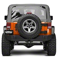 MBRP Spare Tire Relocate Bracket, Black Coated (07-16 Wrangler JK) - MBRP 130718