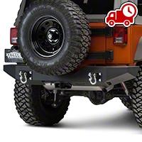 MBRP Rear Full Width Bumper Package (07-16 Wrangler JK) - MBRP 131177