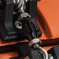 Drake Off Road Hood Hold Down Turnbuckles, Black Finish (97-13 Wrangler TJ & JK) - Drake Off Road JP-190001/21