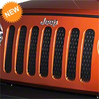 Drake Off Road Grille Inserts, Black (07-14 Wrangler JK) - Drake Off Road JP-190008-BLACK||JP-190008-BLACK