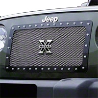 T-REX X-Metal Series, Studded Main Grille, Polished Stainless Steel (07-14 Wrangler JK) - T-REX 6714830||6714830