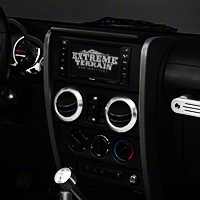 Drake Off Road A/C Vent Bezels - 4pc set (07-10 Wrangler JK) - Drake Off Road JP-180000-AL