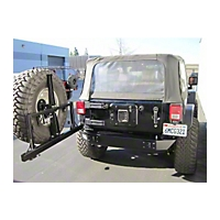 Pure Jeep Smooth Rear Stubby Bumper w/Tire Carrier (07-13 Wrangler JK) - Pure Jeep PJ2003
