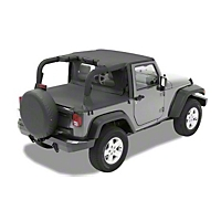 Pavement Ends Cargo Cover, Black Diamond (07-13 Wrangler JK 2 Door) - Pavement Ends 41827-35