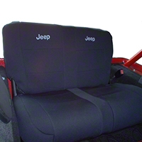 Coverking Rear Neoprene Seat Cover With Jeep Logo (92-95 Wrangler YJ) - Coverking SPC153
