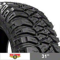 Mickey Thompson Baja MTZ Radial Tire w/ Outlined White Letters; 31x10.50R15LT (87-14 Wrangler YJ, TJ & JK) - Mickey Thompson 90000000088
