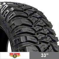Mickey Thompson Baja MTZ Radial Tire w/OWL, 33x12.50R17LT (87-15 Wrangler YJ, TJ & JK) - Mickey Thompson 90000000103