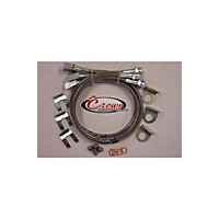 Crown Performance Stainless Steel Brake Line Kit; Stock Length; (11-13 Wrangler JK) - Crown Performance JEEP25FR