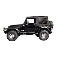 Rampage OEM Replacement for steel doors, Tinted Windows, Black Denim (97-06 Wrangler TJ) - Rampage 99315