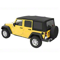 Bestop Replace-a-Top Black Diamond Sailcloth w/Tinted Windows (07-09 Wrangler JK 4 Door) - Bestop 79137-35