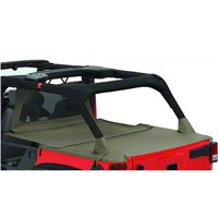 Bestop Duster Deck Cover Extension, Khaki Diamond (07-13 Wrangler JK 4 Door) - Bestop 90034-36