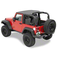 Pavement Ends Sun Cap, Khaki Diamond (07-13 Wrangler JK) - Pavement Ends 41522-36