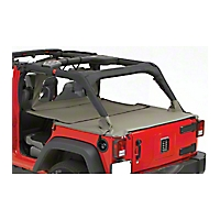Pavement Ends Extended Cargo Cover, Khaki Diamond (07-13 Wrangler JK 4 Door) - Pavement Ends 41428-36