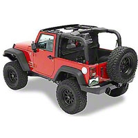 Pavement Ends Cab Curtains, Khaki Diamond (07-13 Wrangler JK 2 Door) - Pavement Ends 41424-36