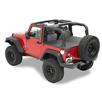 Pavement Ends Cargo Cover, Khaki Diamond (07-13 Wrangler JK 2 Door) - Pavement Ends 41827-36