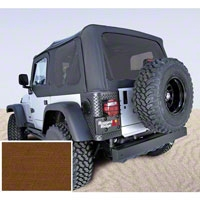 Rugged Ridge XHD Replacement Soft Top w/ Door Skins and Tinted Windows, Dark Tan (97-02 Wrangler TJ) - Rugged Ridge 13724.33