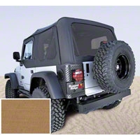 Rugged Ridge XHD Replacement Soft Top w/ Door Skins and Tinted Windows, Spice (97-02 Wrangler TJ) - Rugged Ridge 13724.37