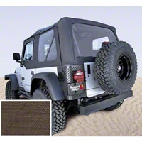 Rugged Ridge Soft Top w/ Clear Windows & Door Skins, Khaki Diamond (03-06 Wrangler TJ) - Rugged Ridge 13707.36