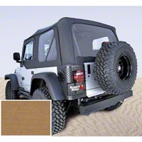 Rugged Ridge Soft Top w/ Clear Windows & No Door Skins, Spice (97-02 Wrangler TJ) - Rugged Ridge 13705.37