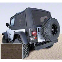 Rugged Ridge Soft Top w/ Tinted Windows & No Door Skins, Khaki Diamond (03-06 Wrangler TJ) - Rugged Ridge 13710.36