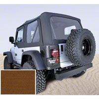 Rugged Ridge XHD Replacement Soft Top w/ Door Skins & Clear Windows, Dark Tan (97-02 Wrangler TJ) - Rugged Ridge 13723.33