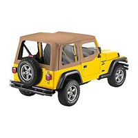 Bestop Replace-A-Top Clear Windows w/ Upper Half Door Skins, Spice (97-02 Wrangler TJ) - Bestop 51121-37