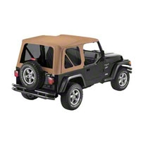 Bestop Sailcloth Replace-a-Top w/ Tinted Windows, Spice (97-02 Wrangler TJ w/ Full Steel Doors) - Bestop 79139-37