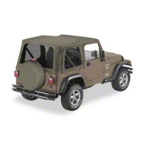 Bestop Sailcloth Replace-A-Top w/ Tinted Windows, Khaki Diamond (03-06 Wrangler TJ w/ Full Steel Doors) - Bestop 79141-36