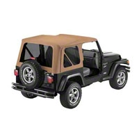 Bestop Soft Top Replace-A-Top w/ Tinted Windows, Spice (97-02 Wrangler TJ And Full Steel Doors) - Bestop 51180-37
