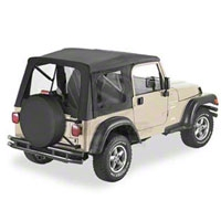 Bestop Supertop Soft Top w/ Clear Windows, Black Diamond (97-06 Wrangler TJ) - Bestop 51709-35