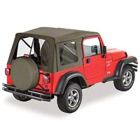 Bestop Supertop Soft Top w/ Clear Windows, Spice (97-06 Wrangler TJ) - Bestop 51709-37