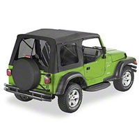 Bestop Supertop Soft Top w/ Tinted Windows, Black Diamond (97-06 Wrangler TJ) - Bestop 54709-35