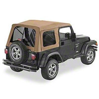 Bestop Supertop Soft Top w/ Tinted Windows, Spice (97-06 Wrangler TJ) - Bestop 54709-37