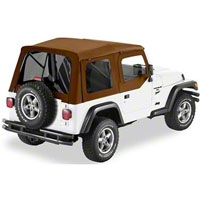 Bestop Supertop Soft Top w/ Tinted Windows And Upper Soft Doors, Spice (97-06 Wrangler TJ) - Bestop 54710-37