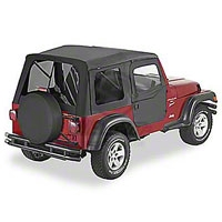 Bestop Supertop Soft Top w/ Tinted Window and 2pc Soft Doors, Black Diamond (97-06 Wrangler TJ) - Bestop 54713-35