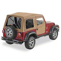 Bestop Supertop Soft Top w/ Tinted Window and 2pc Soft Doors, Spice (97-06 Wrangler TJ) - Bestop 54713-37