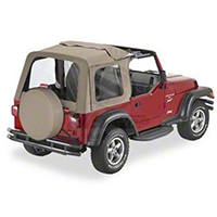 Bestop Sunrider Soft Top, Dark Tan (97-02 Wrangler TJ) - Bestop 51699-33