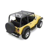 Bestop Bikini Top SAFARI Version, Mesh (97-02 Wrangler TJ) - Bestop 52531-11