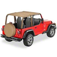 Bestop Bikini Top SAFARI Version, Spice (97-02 Wrangler TJ) - Bestop 52531-37