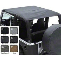 Smittybilt Extended Brief Top, Black Diamond (97-06 Wrangler TJ) - Smittybilt 93635