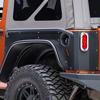 Or-Fab Rear Quarter Slider Armor, Wrinkle Black (07-13 Wrangler JK 2 Door) - OR-Fab 84332