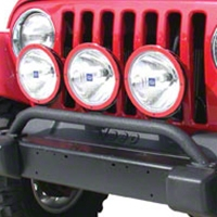 Olympic 4x4 Aux Bar w/3 Light Tabs, Textured Black (07-13 Wrangler JK) - Olympic 4x4 183-174