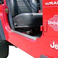 Olympic 4x4 Entry Guards, Stainless Steel (87-95 Wrangler YJ) - Olympic 4x4 205-112