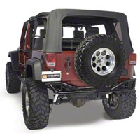 Olympic 4x4 Boa w/Tire Carrier, Gloss Black (07-13 Wrangler JK) - Olympic 4x4 2507-171
