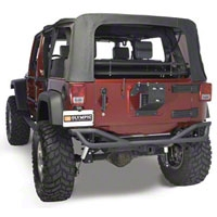 Olympic 4x4 Boa w/Tire Carrier, Textured Black (07-13 Wrangler JK) - Olympic 4x4 2507-174