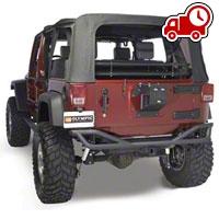 Olympic 4x4 Boa w/ Tire Carrier - Textured Black (07-16 Wrangler JK) - Olympic 4x4 2507-174