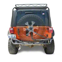 Olympic 4x4 Boa Extreme w/Tire Carrier, Gloss Black (07-13 Wrangler JK 4 Door) - Olympic 4x4 2517-171