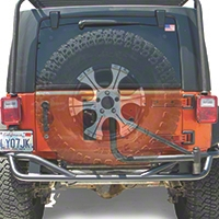 Olympic 4x4 Boa Extreme w/Tire Carrier, Textured Black Black (07-13 Wrangler JK 4 Door) - Olympic 4x4 2517-174