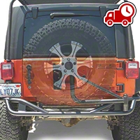 Olympic 4x4 Boa Extreme w/ Tire Carrier - Textured Black (07-16 Wrangler JK) - Olympic 4x4 2517-174